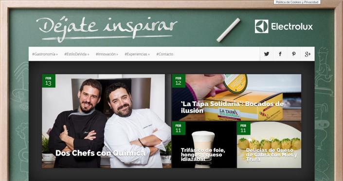 Déjate inspirar, web diseñada y desarrollada por Visual Thinking Comunicación