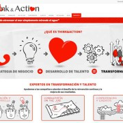 Diseño web Think and Action por visual thinking